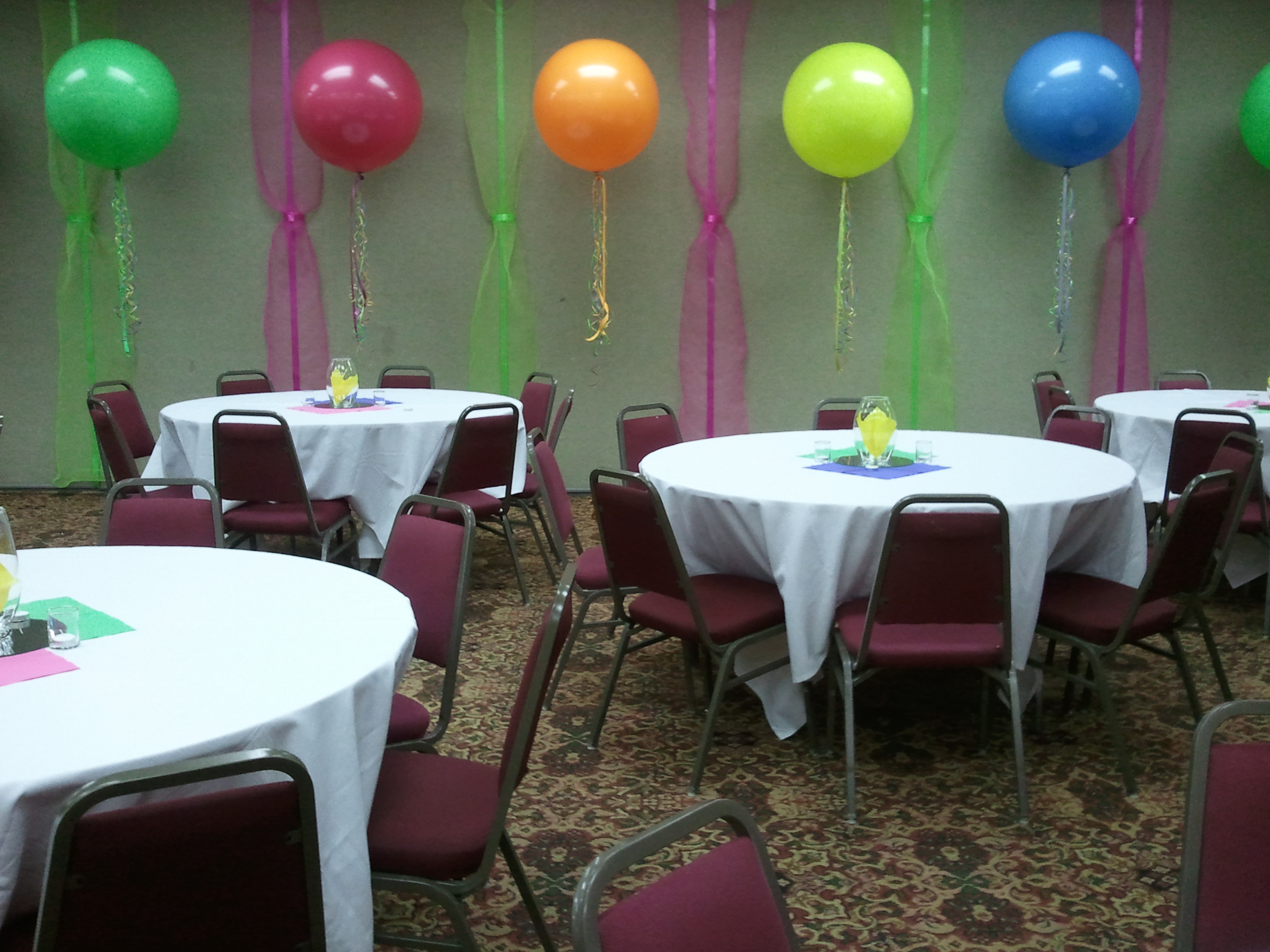 Balloon decor for 80th birthday decoration