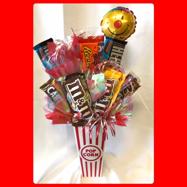 Movie Night Bouquet With Drinks: Candy Bouquets